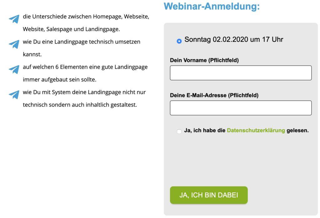 Zoom Anmeldung mit Klick-Tipp verbunden - spare dir die Zoom Webinar Gebühren